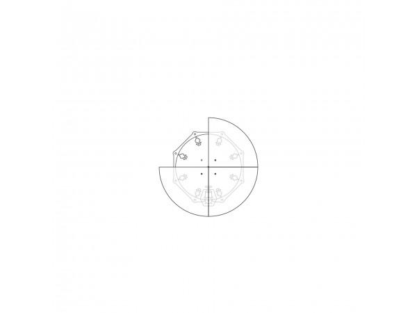Диск для увеличения диаметра  до 510мм, 4 сегмента, акрил
