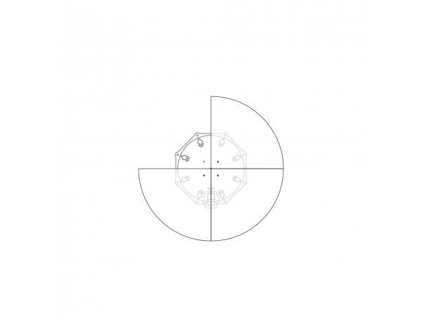Диск для увеличения диаметра  до 740 мм, 4 сегмента, легкий белый пластик