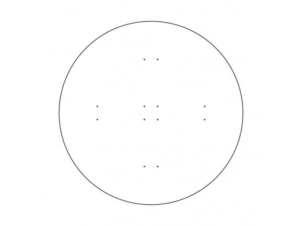 Диск для увеличения диаметра  до 980 мм, цельный, легкий белый пластик